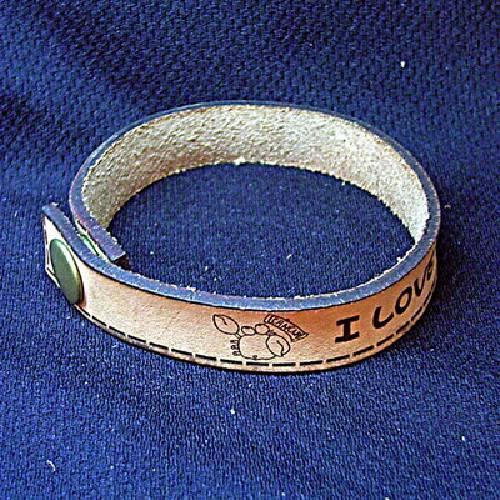 皮革手環(釘扣式)